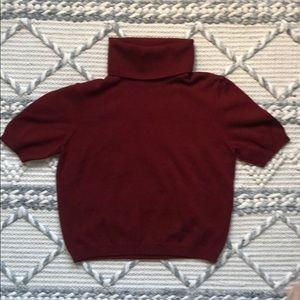 VTG Cropped Knit Turtleneck Sweater